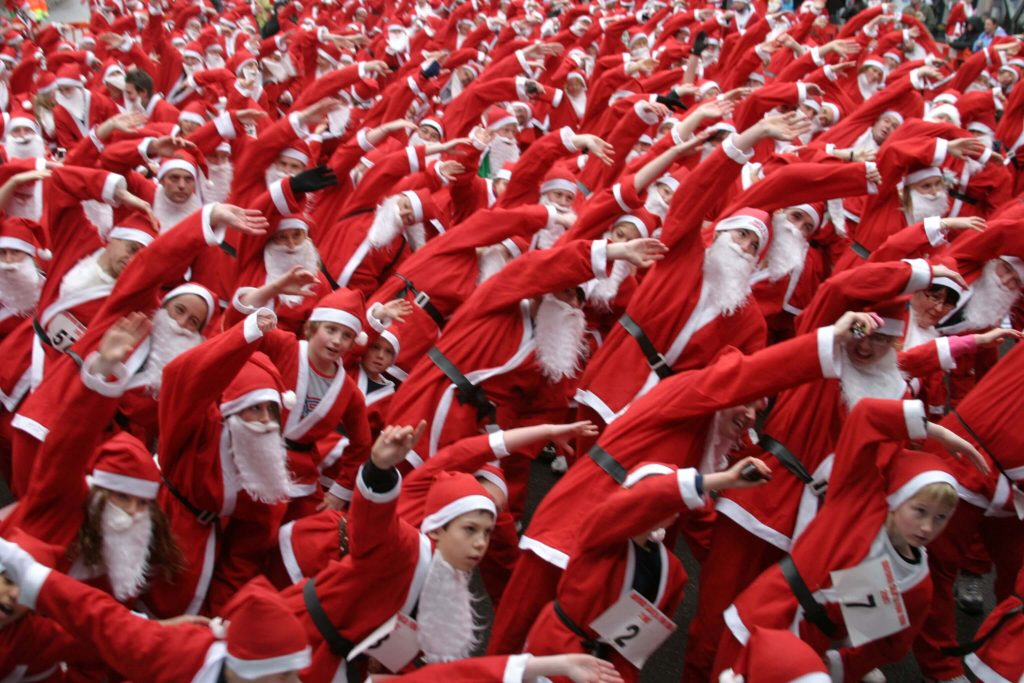 Santa run dubai